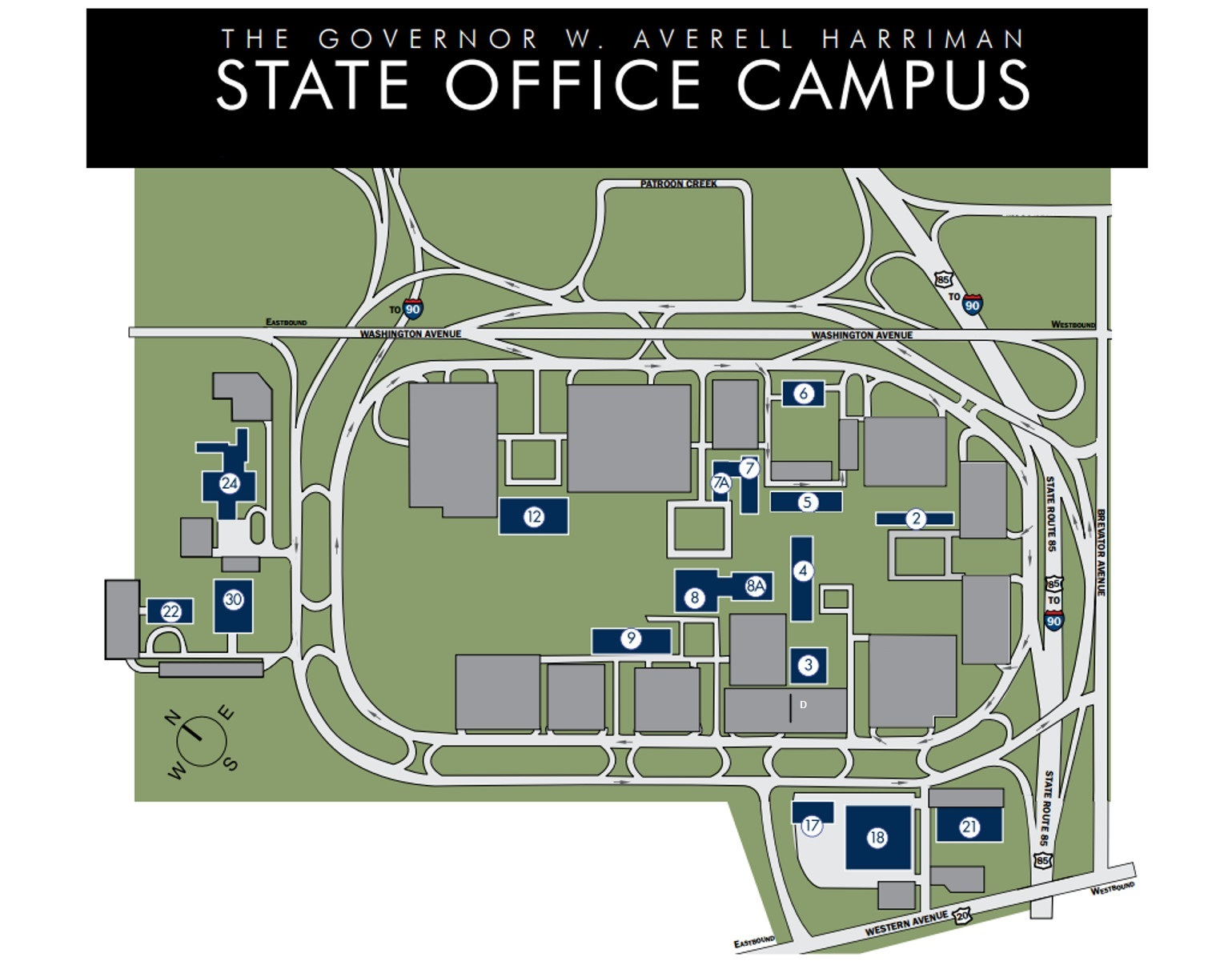 harriman state campus map W Averell Harriman State Office Campus Map harriman state campus map